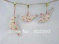fabic bird hanger-easter decoration -fabic wing and fabic body bird hanger-3designs asst.-5colours-free shipment