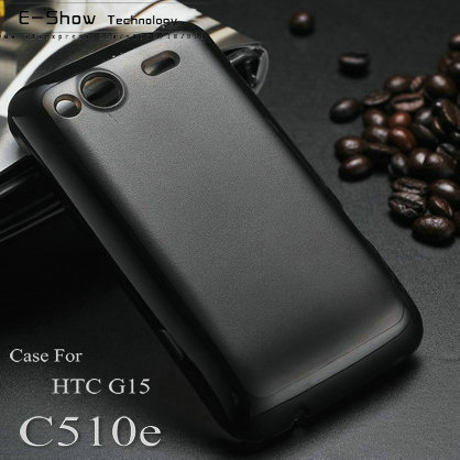 Two-tone hybrid case for HTC Salsa G15 frosted back cover for htc C510E Fashion luxury for G15 PC + TPU mobile phone case(China (Mainland))