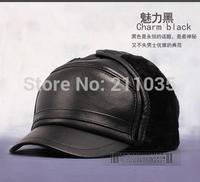 Hot Sale Quinquagenarian sheepskin male autumn winter genuine leather cap winter ear hat 58CM 59CM 60CM R96