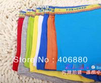 Children cotton underwears boys boxers briefs Random multiColor flat feet panties 10pcs/lot Free shipping