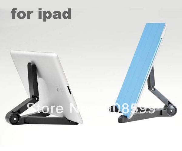 Free Shipping Foldable Desk Holder for iPad 2/3/4/mini/Microsoft Surfa/Galaxy Ta 10.1/Kindle Fire HD Plastic Tablet Bracket(China (Mainland))