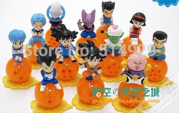 12pcs dragon ball z miniatures Action figures toys children toy best gifts for friends for man freeshipping