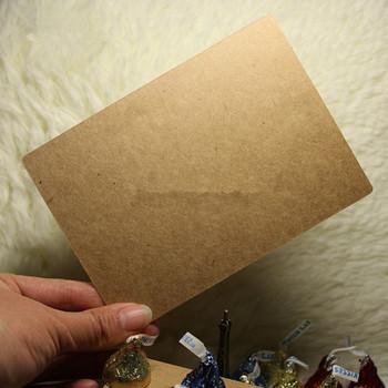 Retro DIY Brown Kraft Paper label Writing Memo Note Pads Custom Cardboard Free Shipping