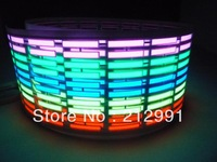 free shipping+ 45*11cm+1PCS+5 COLORS+Car Music rhythm lamp led sound activated equalizer Multi color flashing