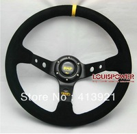 Hotsale 350mm OMP Deep Corn Drifting Steering Wheel / Suede Leather