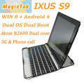 Win8+Android4 Dual OS Tablet PC,12mm Supper thin,builtin 3G,Atom N2600, 2G RAM 32G Disk