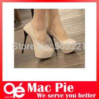 2013 womems fashion high heels shoe women pumps black/silver Colour party platforms shoes
