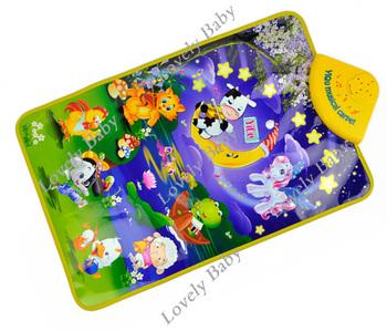 Cartoon animal farm music harp/educational electronic keyboard Gym Carpet PlayMat childhood toys 8429