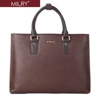 2013 new  fashion MILRY Genuine Leather men Briefcase business shoulder Messenger Bag for laptop  Free shipping P0120-2