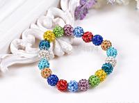 Free Shipping  wholesale 20 pcs /lot so nice women manual Bracelets  Shambhala  Bracelets Diamond crystal ball  Bracelets