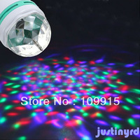 E27 LED Rotating Stage Lighting RGB Crystal Ball Effect Light For Disco Party JS0292 Free Shipping