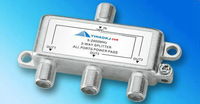 Coaxial 3 way splitter, compatible with HPNA technology ITU G.9954,HomePNA 3.1 ,HPNA Used exclusively IPTV splitter