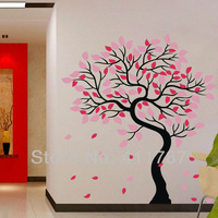 Free Shipping Home Decor DIY Fashionable Large Tree Removeable PVC Wall Sticker Wall Decal 180cm x193cm (4Pcs/Pack)