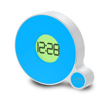 Free shipment Q Fluorescent cute table plastic Clock gifts