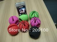football  shape cell phone holder,mobile phone loudspeaker/silicone speaker