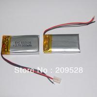 Wholesale 3.7V 300mah Rechargeable Lithium Polymer Battery 502035,100pcs/lot
