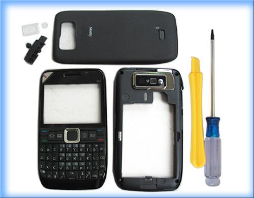 MOBILE PHONE BLACK COVER HOUSING CASE +KEYPAD TOOL FOR NOKIA E63(China (Mainland))