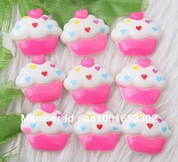 Wholesale  200pcs  Fashion  Cake Resin Flatbacks
