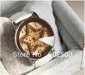 New style!Pentagram shiny zircon inlayed fashion watch,Crystal glass surface,PU leather watchband