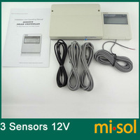 CONTROLLER of SOLAR WATER HEATER, 12VDC,with 3 temperatures sensors