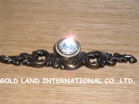 L150mm Free shipping K9 crystal glass zinc alloy kitchen cabinet furniture handle