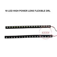 Free Shipping High Power New Flexible 2PCS 36W Auto Led Daytime Running Light Car Soft Drl Led Fog Headlight Lamp Warning Light