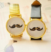 Free Shipping Wholesale Big dial Lovely Beard Moustache Watch Factory price 10pcs/lot