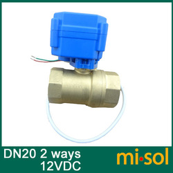 1pcs motorized ball valve DN20, 2 way, electrical valve(China (Mainland))