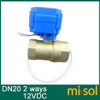 1pcs motorized ball valve DN20 (reduce port), 2 way, electrical valve