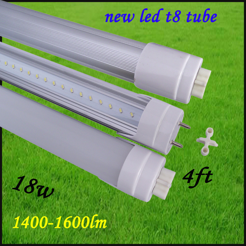 Free shipping 4pcs/lot led t8 tube 1200mm 18w led tube lamp 85-265v high power 1400-1600lm led fluorescent light hot selling(China (Mainland))