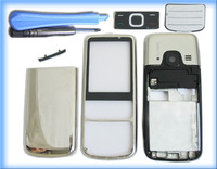 SILVER MOBILE PHONE HOUSING COVER CASE KEYPAD FOR NOKIA 6700c 6700