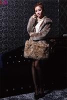 Free shipping fashion ladies' thicken with cute sweet bear's ear hoody  Faux fur coat Outerwear wholesale 2014 winter women coat
