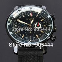 New SOKI Date Black Day Automatic Mens Mechanical Self Winding Rubber Wrist Watch W117