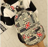 High quality European Flag newspaper pattern Backpack schoolbag travelling bag