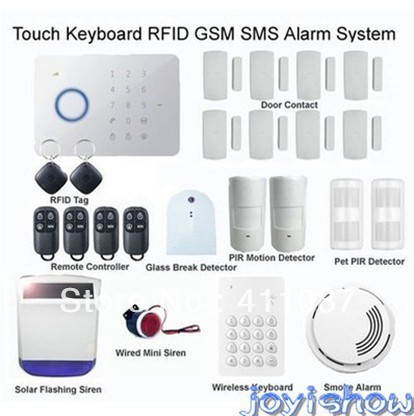New Touch Keypad Home Security Burglar GSM Phone SMS Wireless Alarm System CHUANGO G5 315MHZ/433MHZ(China (Mainland))