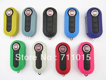 Fiat 3 button flip remote key blank case only shell