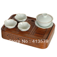 Fashion  solid  wood  chicken wing wood tea tray for kung fu tea set +Free shipping 1pcs/lot