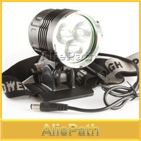 5000 Lumen Super Bright 3x CREE XML T6 LED Bicycle Bike Light Headlamp + 6400mAh Battery Pack, 4 Switch Modes