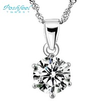Free shipping PF brand Classic female 925 silver & AAA swiss crystal & 3 layers of platinum pendants Six claw