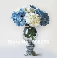 10pcs Silk Artificial Hydrangea Pincushion Laurustinus Flower single stem per piece for Wedding Bouquet Christmas
