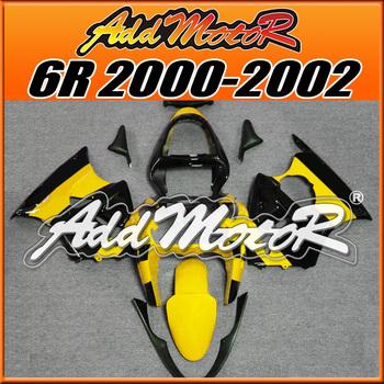 Addmotor Fairing Kit Fit Kawasaki Ninja 636 ZX6R 00-02 ZX-6R 2000-2002 6R 00 01 02 ZX 6R 2000 2001 2002 Yellow Black K6033