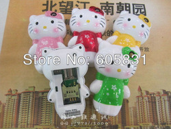 Newest SUPER cool hello kitty Cartoon for kids & lady cell phone Unlocked fashion gift lovely C168 Mobile Phone Free shipping(China (Mainland))