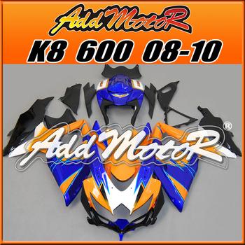 Addmotor Aftermarket Injection Mold Fairing Fit Suzuki GSXR600 750 08-10 GSXR 600 750 2008-2010 K8 Orange Blue S6851