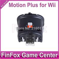 100pcs a lot Wholesale Motion Plus for Wii Remote Controller (Black)