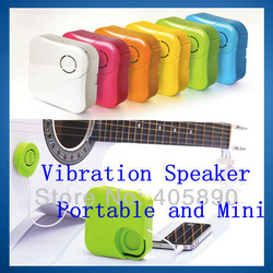 3pcs/lot Portable Mini Speaker Musticker Resonance Sound Vibration Speaker System for MP3 PC(China (Mainland))