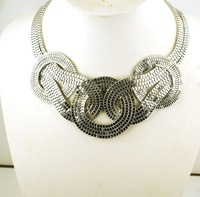 Min.order is $15 (mix order) New Arrival Fashion Style Cool Punk Colorful Joker Necklace For Women CG2908 Just Silver