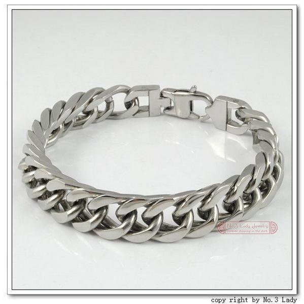 Stainless Steel Bracelet Mens Chain 2014 bijoux PUNK ROCK Biker gift for pulsera hombre Love aliexpress