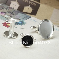 100pcs/lot french 12mm/14mm/16mm/18mm/20mm pad cufflinks,metal,fashion cuff links,copper with silver Plated/Free shipping