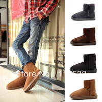 Free shipping! New fashion Korean men  snow boots England warm shoes short boots
