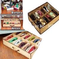 150pcs/lot 12 Shoes Closet Organizer Under Bed Storage Holder MD036